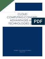 Cloud Computing NiculescuAnaMaria