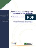 Estudo Para Dimensionamento Das ICG Referentes Às Centrais Eólicas Do LFA e LER 2010 (Ceará, Rio Grande Do Norte e Bahia)