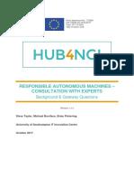 Responsible Autonomous Machines Consultation - Background & Gateway Questions