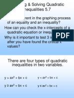 1.9 Graph Solve Quadratic Inequalities