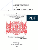 Jackson - Gothic Architecture in France, England, & Italy, Vol 1