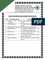 Daftar Rumah Sakit Rujukan