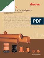 13 Nu Drain Underground Drainage System