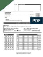 2015 CAE Answer Sheet