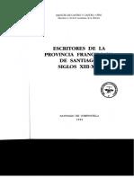 Escritores de la provincia granciscana de Santiago