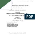 Proyecto Final Planeación y diseños de instalaciones