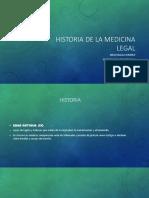 Reusmen de la historia de la medicina legal