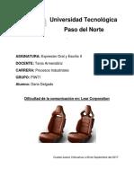 Dificultad de la comunicacion  - Lear Corporation.docx