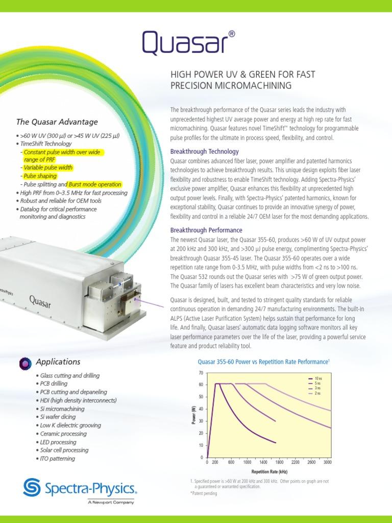 Quasar Hybrid Fiber Laser SP | Laser | Printed Circuit Board