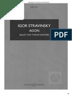 Igor Stravinsky Agon Full Score