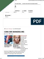 Cara SMS Banking BRI (Daftar, Transfer, Dan Cek Saldo)