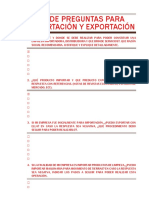 Lista de PREGUNTAS Expo&Import