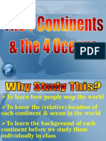 map skills - continents   oceans new
