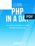 Learn PHP In A Day