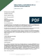 Ley Orgánica Para La Eficiencia en La Contratación Pública