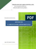 TRABALHO DE LICENCIATURA - SÍNTESE DE N-ARILSULFONIL-DITIOURETANAS (FINAL) - SILVA B.pdf