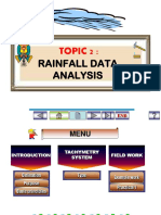 Topic 2 - Rainfall Data Analysis 1