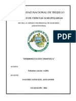 Practica de Laboratorio de DESHIDRATACIÓN OSMÓTICA - Ingenieria de Alimentos 2 - UNT VJ