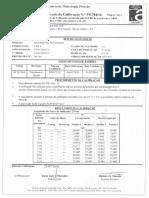 Certificado de Calibração Man-023 - 0 a 25 Bar