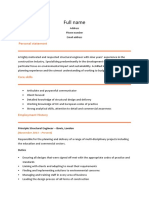 Structural Engineer CV