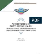 Plan Estrategico 2016 AASANA