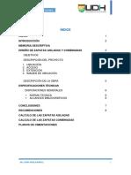 Informe de Diseño de Zapatas Combinadas e Aisladas