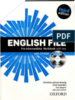 English File Pre-Intermediate 3e Workbook