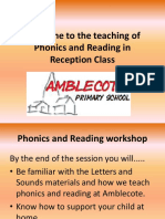 Phonics and Reading Information for Parents September 2015