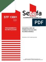 STF 13001 Desinfeccion de Conductos