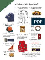 new tiger scout checklist