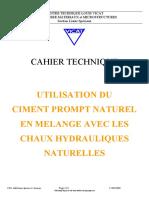 Cahier Technique Chaux-ciment Naturel Prompt