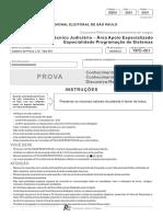 Fcc 2017 Tre Sp Tecnico Judiciario Programacao de Sistemas Prova