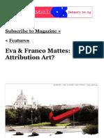 ARTPULSE MAGAZINE » Features » Eva & Franco Mattes_ Attribution Art_.pdf