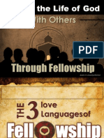 Sharing the Life of God Through Fellowship - The 3 Love Languages of Fellowship