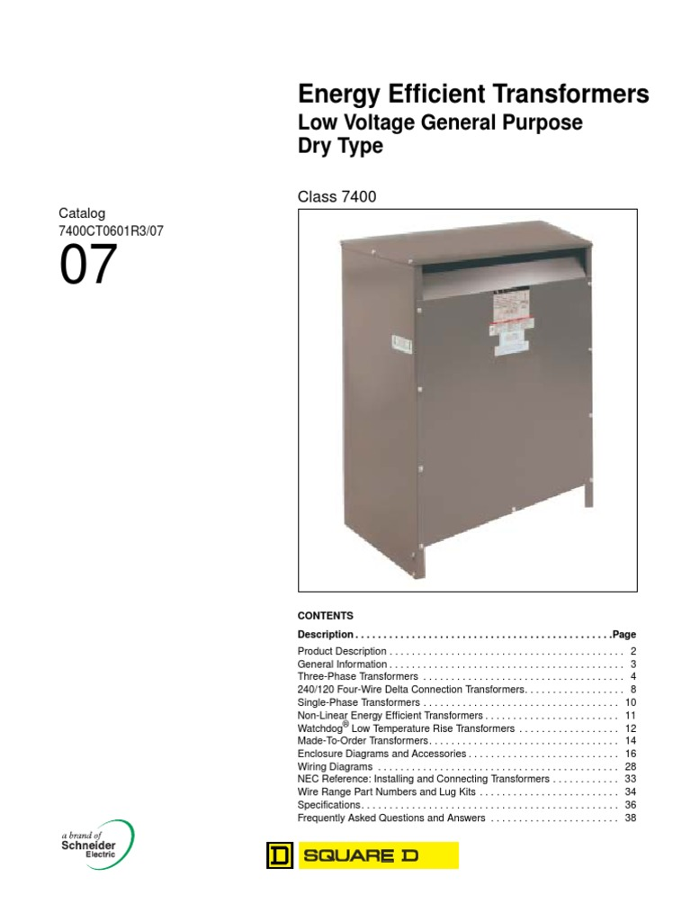 Schneider Electric Transformer Wiring Diagram Trusted Typical 7400ct0601trs Secossqd Pdf Components