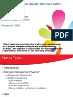 Kraft Allergen Management Forum