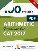 Hit bullseye Arithmetic Questions for Cat2017