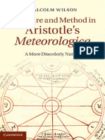 Wilson, M. - Structure and Method in Aristotle's Meteorologica (2013)