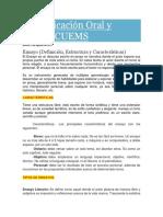 ENSAYO_Comunicación Oral y Escrita