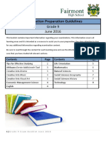 Exam Study Booklet June Gr 9