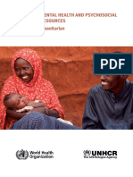 Assessing Mental Health and Psychosocial Needs and Resources Toolkit for Humanitarian Settings