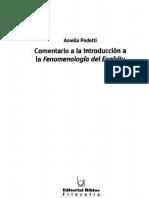 Podetti Amelia - Comentario a La Introduccion a La Fenomenologia Del Espiritu