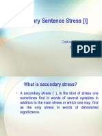 Secondary Sentence Stress [