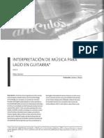 Interpretacion de Musica Para Laud en Guitarra