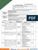 Plan de Evaluacion de química de tercer año