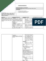 Planilla de Secuencia Didáctica- Estadística
