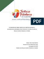 11. Documento Final Analisis Beneficios Tributarios Impuesto de Renta