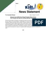 Statement From Three LA School Board Members