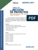 V Curso de Dirección de Proyectos