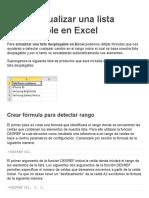 Cómo Actualizar Una Lista Desplegable en Excel